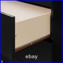 1-Drawer Nightstand Cabinet Storage Bed Side Table Bedroom Wood Modern Furniture
