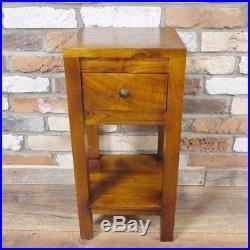 1 or 2 Honey Wooden Bedside Side Drawer Cabinet Furniture Lamp Table Storage NEW