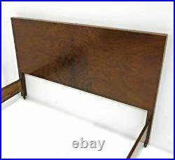 1930 Art Deco Antique Walnut Bedroom Set Double Bed Side Table Nightstand Vanity