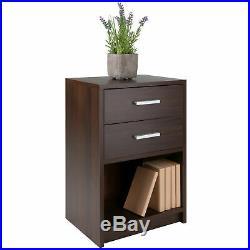 2-Drawer Nightstand Bed Side End Table Display Shelf Storage Bedroom Furniture