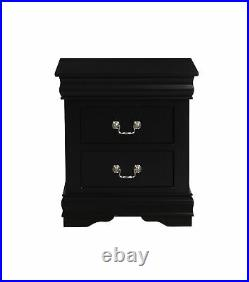 2-Drawer Nightstand Lamp Bed Side Table Storage Organizer Bedroom Furniture Wood