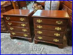 2 Henkel Harris Cherry 4 Drawer Nightstands Very Nice Bed Side Tables