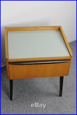 2 Nachttischchen Nachtschrank Vintage Mid Century Rockabilly Bedside Table 60s