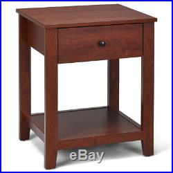 2-Set Nightstand Sofa Side Table Display Stand Multipurpose Bedside with Drawer