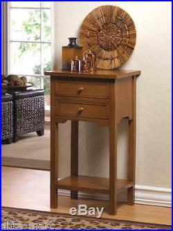 2 modern BROWN Wood 16 SQUARE End side Table bedside Nightstand drawer Shelf