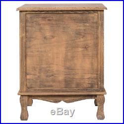 2PCS 3 Drawers Nightstand Storage Solid Wood End Table Bedroom Side Bedside