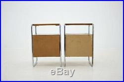 2x 30er NACHTTISCHE BAUHAUS SCHRANK TISCH 30s BEDSIDE TABLES CENTURY DESIGN