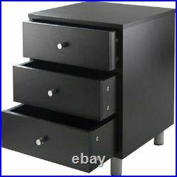 3-Drawer Nightstand Bed Side Table Lamp Stand Storage Bedroom Furniture Wooden