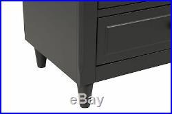 3 Drawer Nightstand Bedside End Table Bedroom Side Stand Storage Organizer Black