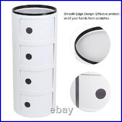 4 Layers Bedroom Bedside Table Side End Stand Multi-functional Storage Organizer