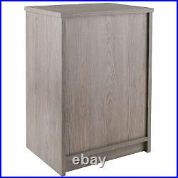 Accent Bed Side Table Nightstand Storage Drawer Wood Bedroom Furniture Ash Gray
