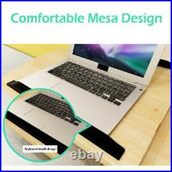 Adjustable Rolling Height Angle Laptop Desk Sofa Bed Side Food Tray Table Stand
