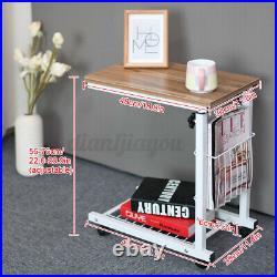 Adjustable Rolling Laptop Desk Stand Computer Desk Table Sofa Bed Side End Table