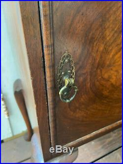 Antique Mahogany Waring & Gillow Side End Table Bedside Cabinet 30.5