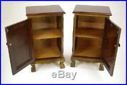 Antique Nightstands, Walnut Bed Side Tables, Bed Sides, Scotland 1930, B1164