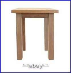 Any size Solid oak wood UK handmade side bedside end plant small table New