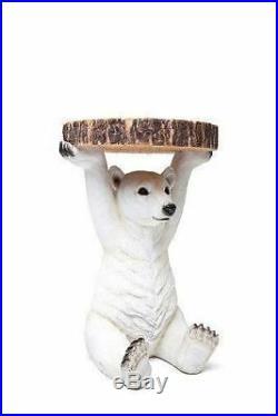 Bear Side Table Penny Polar Bear Resin Bedside Table BD124 RRP £125 SALE