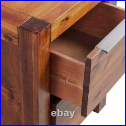 Bedside Cabinet Solid Acacia Wood Nightstand End Side Table Lamp Plant Stand US