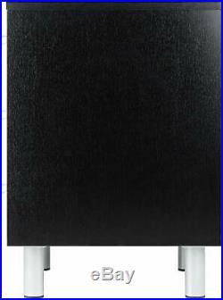 Black Finish Nightstand Wooden Bedside Table 3 Drawer End Side Storage Furniture