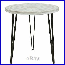 Bohemian Accent Table Sofa End Side Console Bedside Modern Living Room Furniture