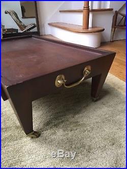 Donghia low table on wheels bedside side vintage brass John Hutton Paris series
