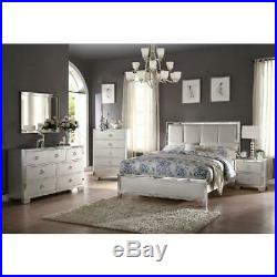 Elegant Mirrored Bed Side Table Drawer Modern Wooden Bedroom Furniture Glam Deco