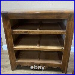 Ethan Allen Nightstand Country French Side Table Bedside Chest 3 Drawers Wooden