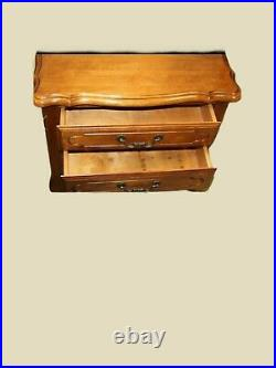 Ethan Allen Nightstand French Provincial Side Table Bedside Chest 3 Drawers Wood
