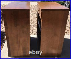 Ethan Allen Nightstands Bed Side Tables Heirloom Nutmeg Solid Maple Pair 2 Match