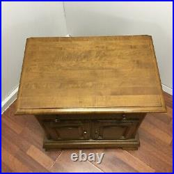 Ethan Allen Solid Maple Nightstand Side End Bedside Tables Classic Manor VTG