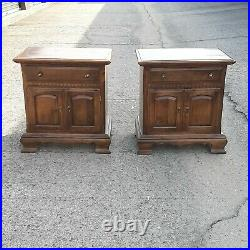 Ethan Allen Solid Maple Nightstand Side End Bedside Tables Classic Manor qty 2