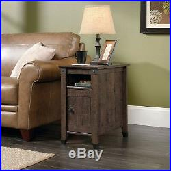 Farmhouse End Table Rustic Bedside Wood Vintage Accent Small Side Coffee Shelf