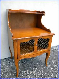 French Cherry Nightstand Side End Lamp Bedside Table 5676