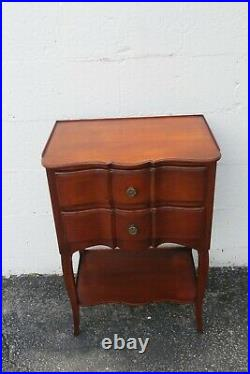 French Cherry Pair of Nightstands Side End Bedside Tables by John Widdicomb 2256