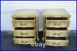 French Painted Pair Nightstands Side End Bedside Tables 2068