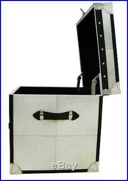 Handmade Designer Bedside cum Side Table 1 Drawer with Storage Trunk