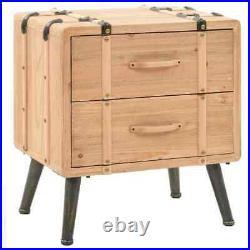 Industrial Bedside Cabinet 2 Drawer Rustic Storage side table Bedroom nightstand
