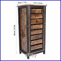 Industrial Vintage Bedside Side Table Cabinet Metal Storage Cabinet Tools Stand
