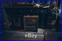 Industrial Wooden Bedside Cabinet/Storage/Side Table/Cupboard/Rustic/Painted