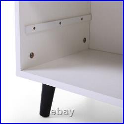 JAXSUNNY Set of 2 Mid-Century Wood Storage Nightstand Side Cabinet Bedside Table