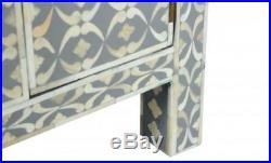 MOP Antique Handmade One Drawer Double Door Bed Side Table