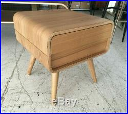 Made. Com Esme Bedside Side Lamp Table With Drawer, Ash. Mid Century 60s Retro