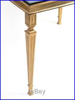 Messing-Glas-Beistell-Blumen-Nacht-Tisch massive brass bed-side-table