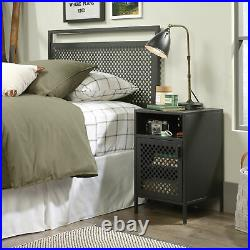 Metal Nightstand Bed Side Table With Storage Cabinet Lamp Stand Modern Industrial