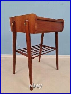 Midcentury Teak Vintage Side table/ Bedside table/ Night stand from the 60s
