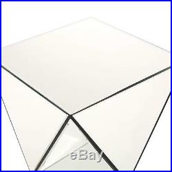 Mirrored Accent Table Night Stand Bed Side Hall Entry Way Living Room Furniture
