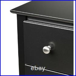 Modern 2-Drawer Black Nightstand Bed Side End Table Bedroom Bedside Night Stand