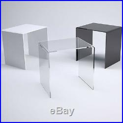 Modern Acrylic Table Side Coffee Bedside Garden Office 3 Colours