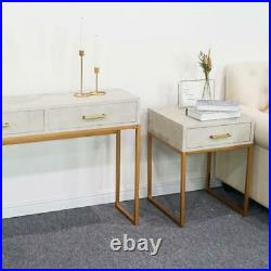 Modern End Side Bedside Table Nightstand Bedroom Decor with Drawer Sofa Table USA