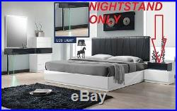 Modern End Table Nightstand Bedroom Bedside White Stylish Night stand Furniture